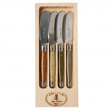 Sada čtyř nožů na máslo Laguiole Jean Dubost mineral mix
