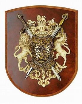 Erb s meči Richarda Lví srdce a El Cida