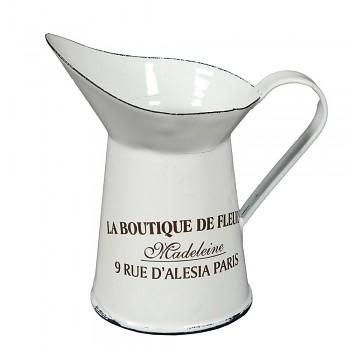 Plechový džbánek La Boutique de Fleurs