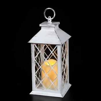 Lucerna s LED svíčkou