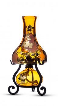 Bohemia Crafts ZLATÉ LÍSTKY - elektrická a petrolejová lampa v jednom