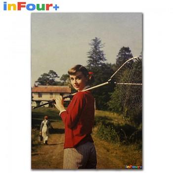 Plakát Audrey Hepburn 51,5x36cm Vintage č.1