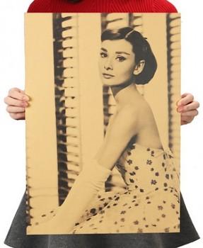 Plakát Audrey Hepburn 51,5x36cm Vintage č.3