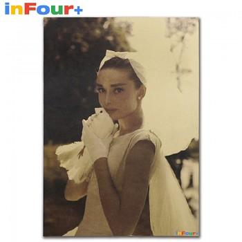 Plakát Audrey Hepburn 51,5x36cm Vintage č.2