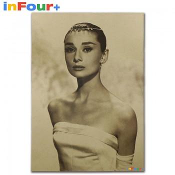 Plakát Audrey Hepburn 51,5x36cm Vintage č.5