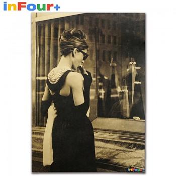 Plakát Audrey Hepburn 51,5x36cm Vintage č.7