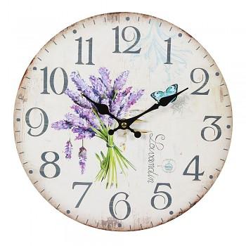 Nástěnné hodiny LAVENDEL
