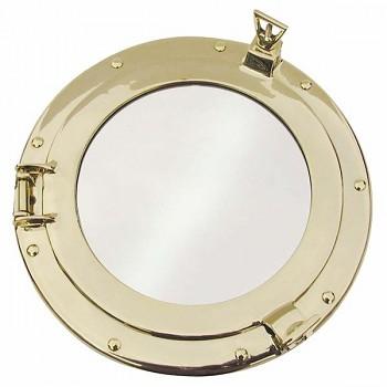 Mosazné kruhové zrcadlo Pacific