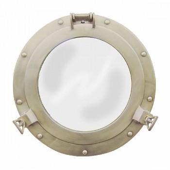 Mosazné kruhové zrcadlo Carribean
