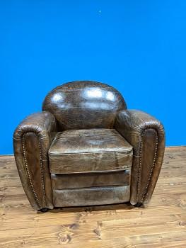 Kožené křeslo Luxury Vintage Brodie- posledni vystavené kusy