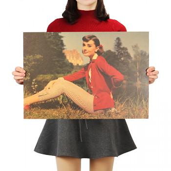 Plakát Audrey Hepburn 51,5x36cm Vintage č.12