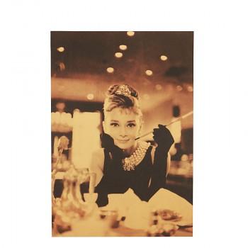 Plakát Audrey Hepburn 51,5x36cm Vintage č.13