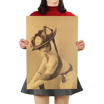 Plakát Audrey Hepburn 51,5x36cm Vintage č.15