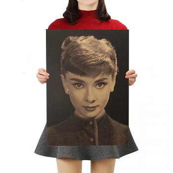 Plakát Audrey Hepburn 51,5x36cm Vintage č.16