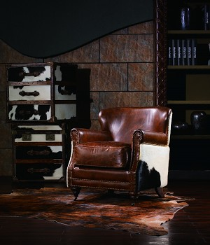 Kožené křeslo Luxury Vintage Ranch