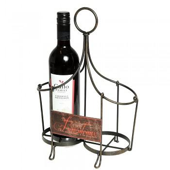 Kovový držák na 2 lahve vína