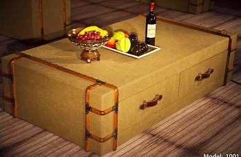 Konferenční stůl Aero suitcase vintage