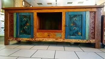 Ručně malovaná  teaková komoda Banjar