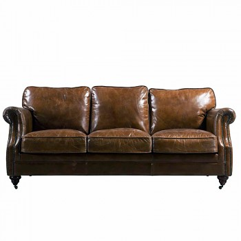Kožená sedačka pro 3 osoby London Vintage Luxury