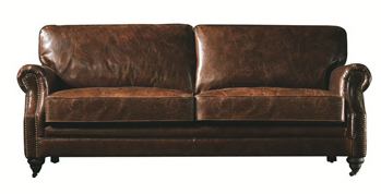 Kožená sedačka pro 2 osoby London Vintage Luxury