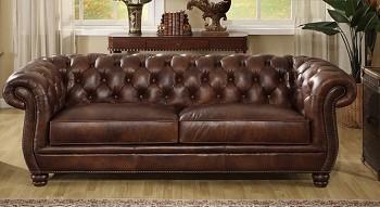 Kožená sedačka pro 3 osoby Chesterfield Luxury