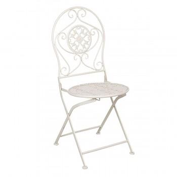 Kovová židle WHITE
