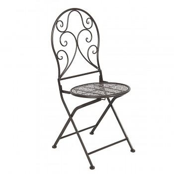 Kovová židle BROWN