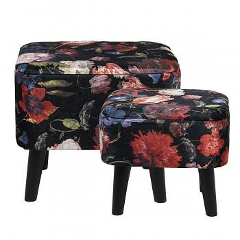 Sada dvou stoliček / podnožek