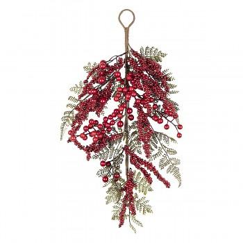 Závěsná větvička červených bobulí