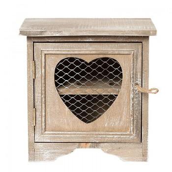 Dřevěná skříňka na vajíčka hnědá