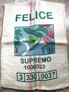 Jutový pytel od kávy, Cafe de Colombia Medelin Supremo
