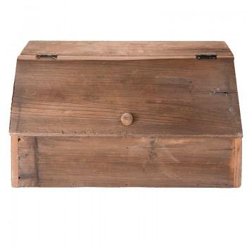 Dřevěná bedýnka s víkem dělená