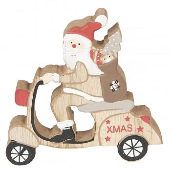 Santa na skútru