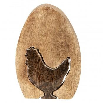 Dřevěné vajíčko se slepičkou