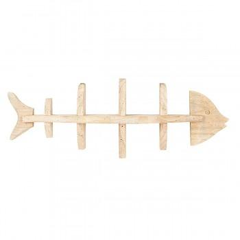 Dřevěná polička FISH