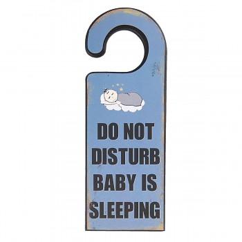 Dřevěná cedule BABY IS SLEEPING