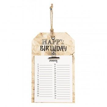 Závěsný narozeninový kalendář