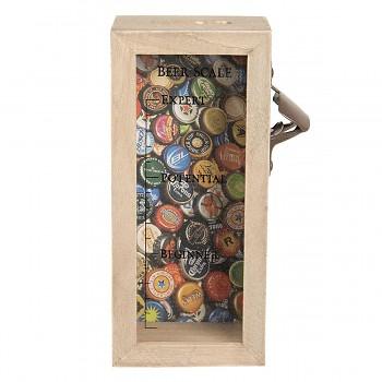 Box na korunkové uzávěry s otvírákem BEER SCALE