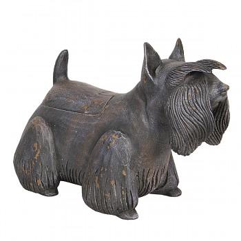 Dekorativní pes s úložným prostorem