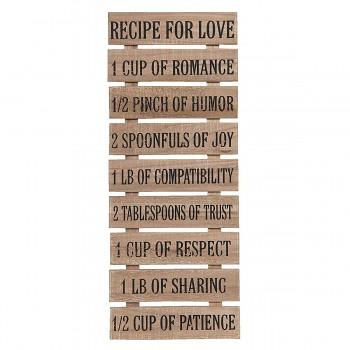 Dřevěná cedule RECIPE FOR LIFE