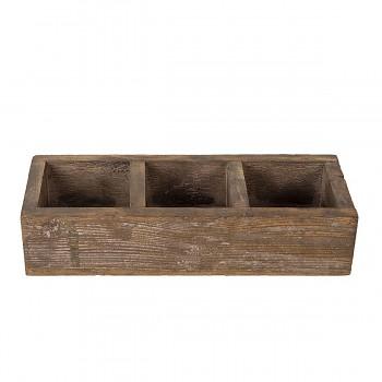 Dřevěný zásobník s přihrádkami