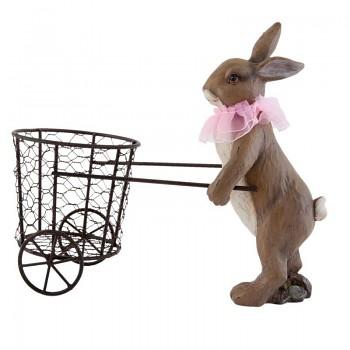 Zaječka s košíkem na kolečkách