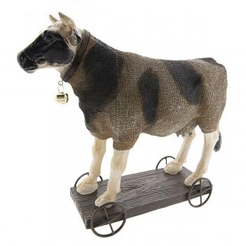 Kráva na vozíčku
