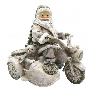 Santa na motorce