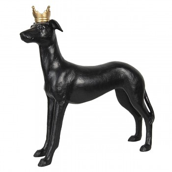 Dekorativní pes s korunkou