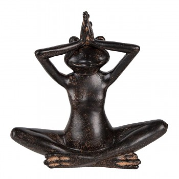 Žába cvičí jógu