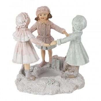 Svícen na čajovou svíčku DANCING GIRLS
