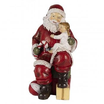 Santa s děvčátkem