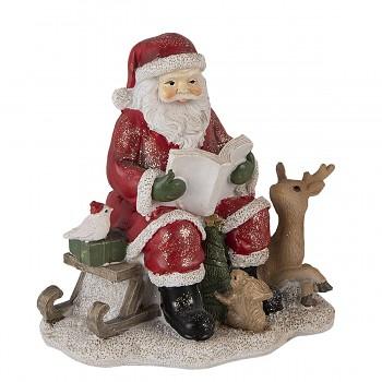 Santa čte zvířátkům