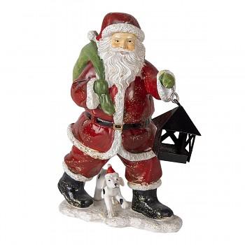 Santa s lucernou